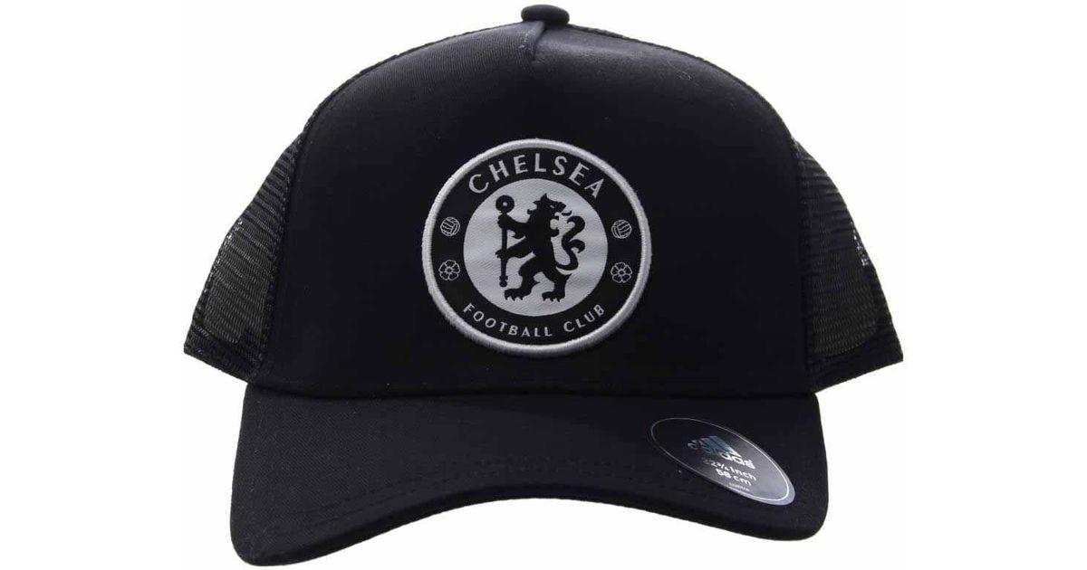 3c9cb6b3924 Lyst - adidas Chelsea Fc Trucker Cap in Black for Men