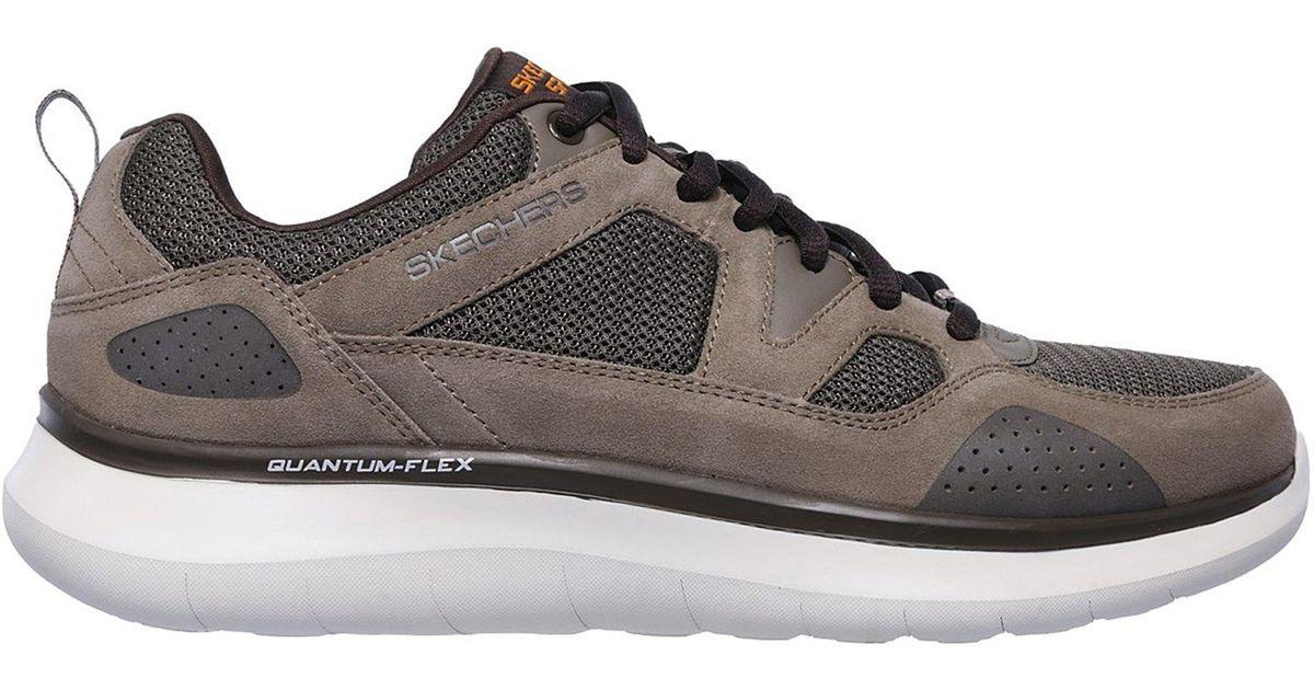 49723da67a0d Lyst - Skechers Relaxed Fit Quantum Flex Sneaker in Brown for Men