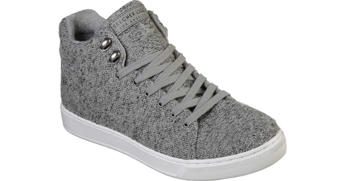 264cac5f Skechers Prima Stone Groove High Top Sneaker in Gray - Lyst