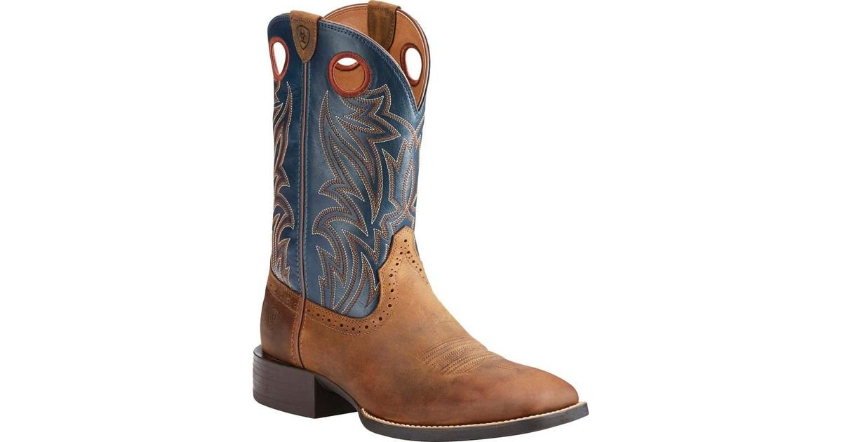 2a93ed77f84 Ariat - Blue Sport Sidebet Cowboy Boot for Men - Lyst