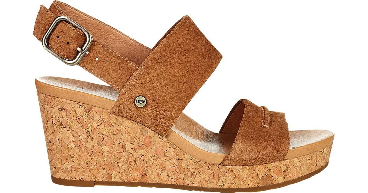 02534791899 Ugg - Brown Elena Ii Wedge Sandal - Lyst