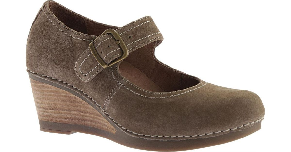 426ba90493bc Lyst - Dansko Sandra Wedge Mary Jane Shoes in Brown