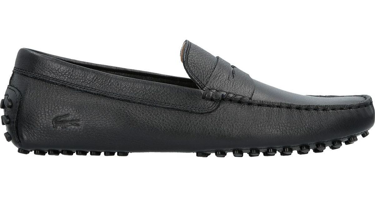 415e85a4aa31b Lyst - Lacoste Concours 116 1 Driving Moc in Black for Men