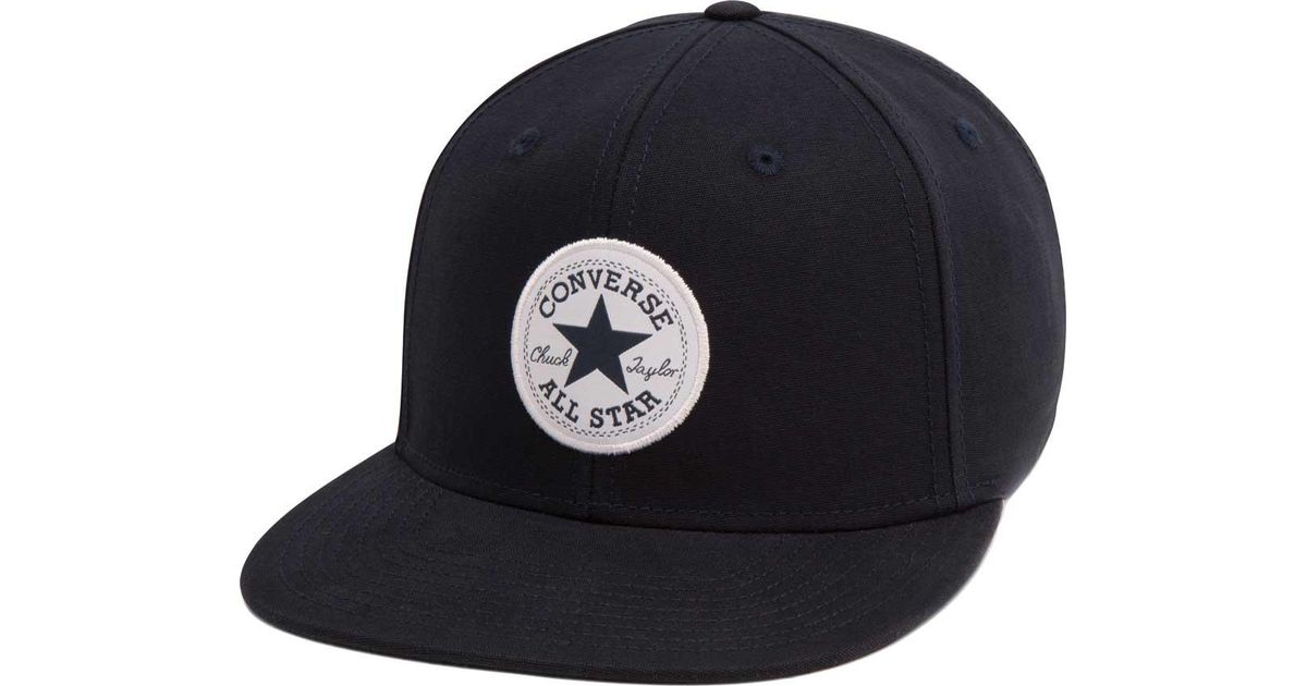 Lyst - Converse Chuck Taylor Patch Signature Snapback in Blue for Men 0cfc1d3fd37d
