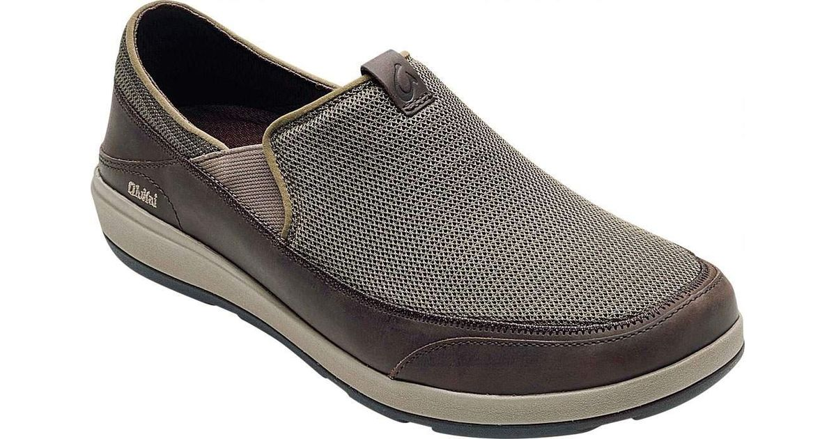 OluKai Na'I Waterproof Moc Toe Slip-On(Men's) -Fox/Dark Wood Buy Cheap Factory Outlet 21nQJ