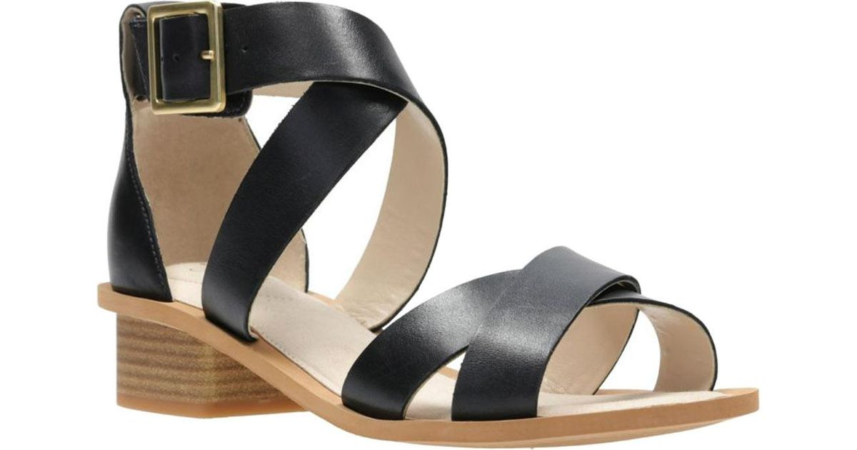 cd5d5c167f460b Lyst - Clarks Sandcastle Ray Strappy Sandal in Black
