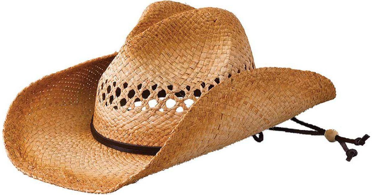 Lyst - San Diego Hat Company Raffia Cowboy Hat Rhc in Brown 8fe053138a91