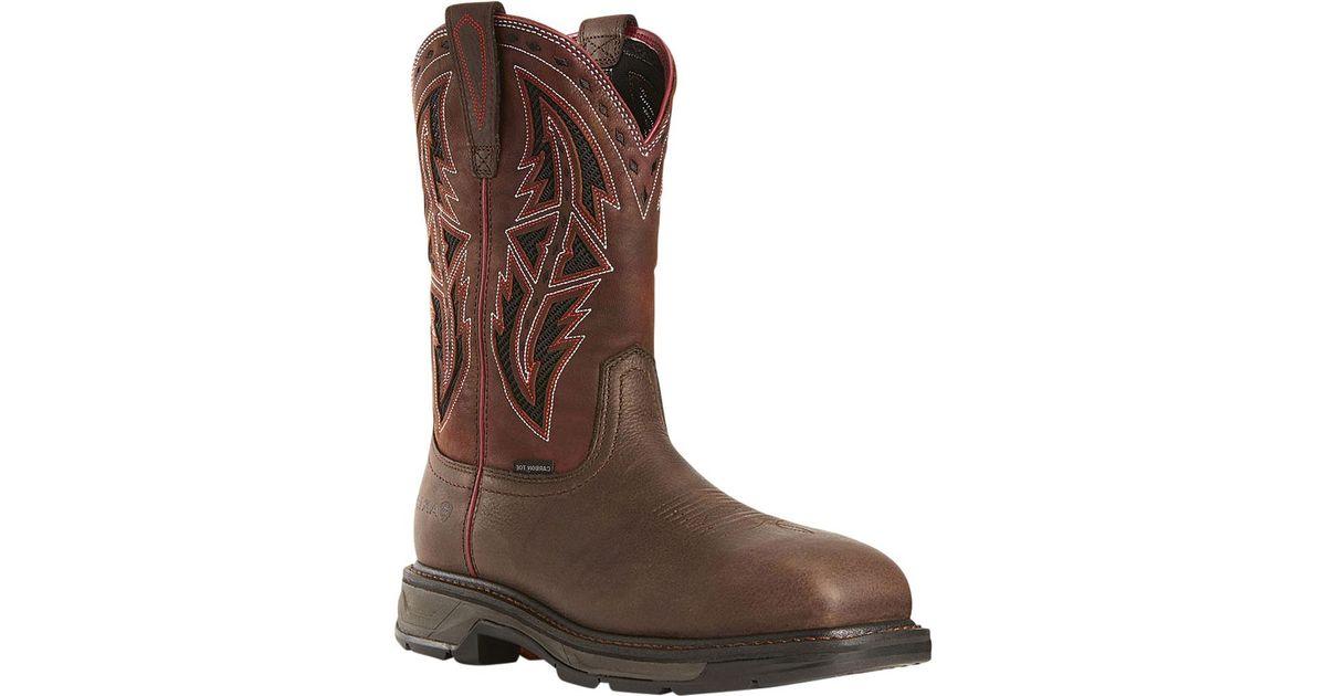 04c43d4c534 Ariat - Brown Workhog Xt Venttek Spear Carbon Toe Work Boot for Men - Lyst