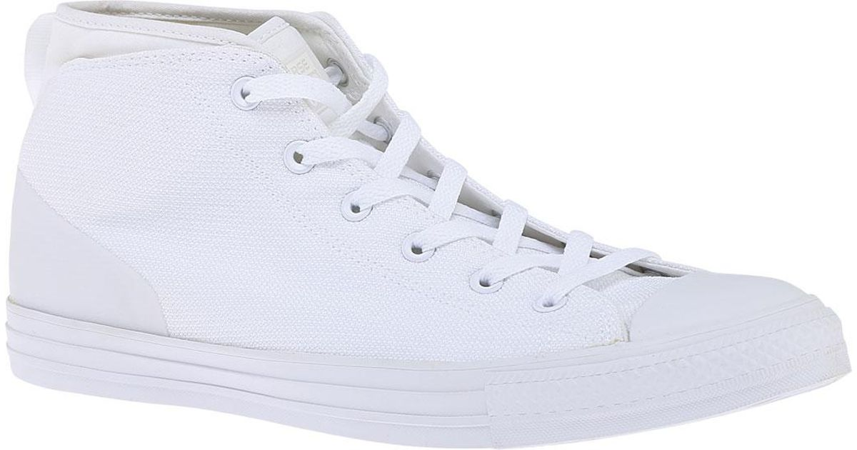 Lyst - Converse Chuck Taylor All Star Syde Street Mid Sneaker in White e3fb65feb