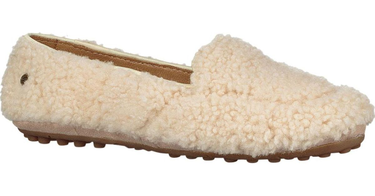 b169d3aca30 Lyst - UGG Hailey Fluff Loafer in Natural