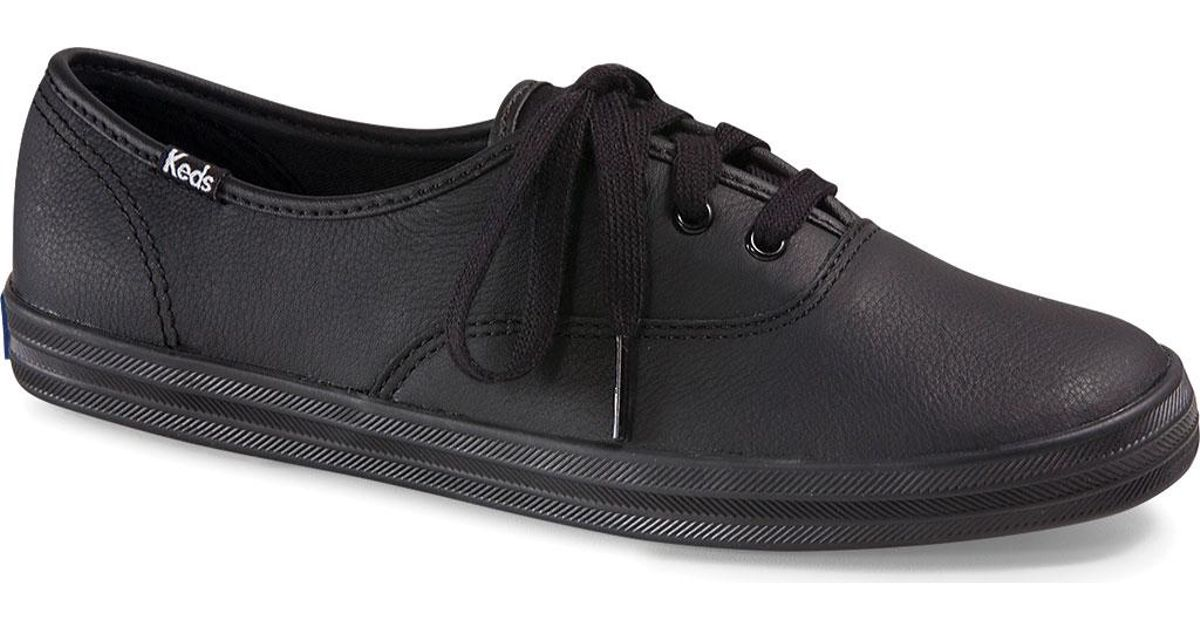 7eeebb1bc013ba Lyst - Keds Champion Oxford Leather Sneaker in Black