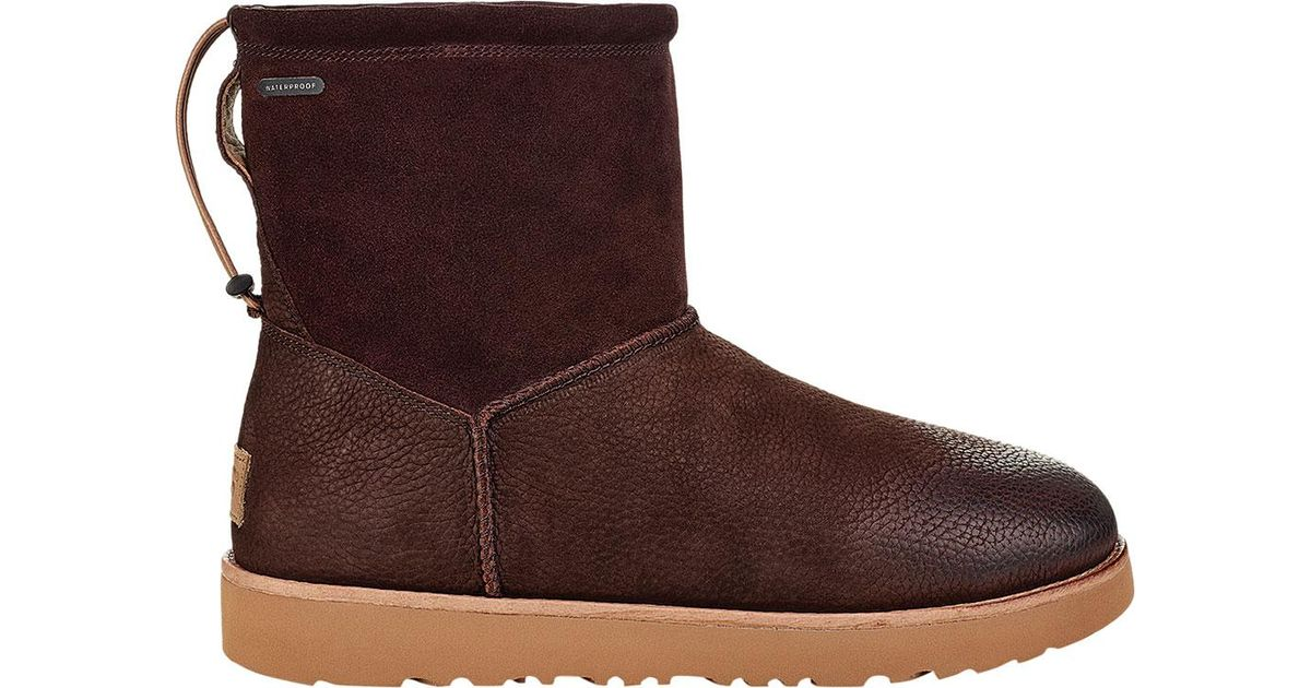 4d4b628895f Ugg - Brown Classic Toggle Waterproof Boot for Men - Lyst