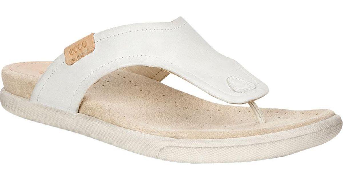 e31506ab3474 Lyst - Ecco Damara Thong Sandal in White