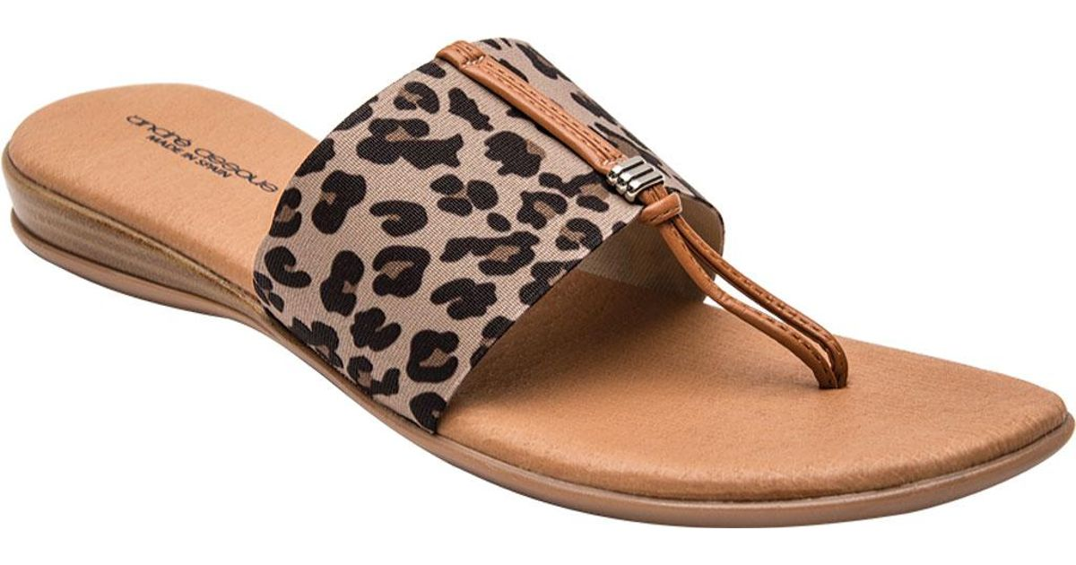 12eccc8f5dcb Lyst - Andre Assous Nice-2 Thong Sandal in Brown