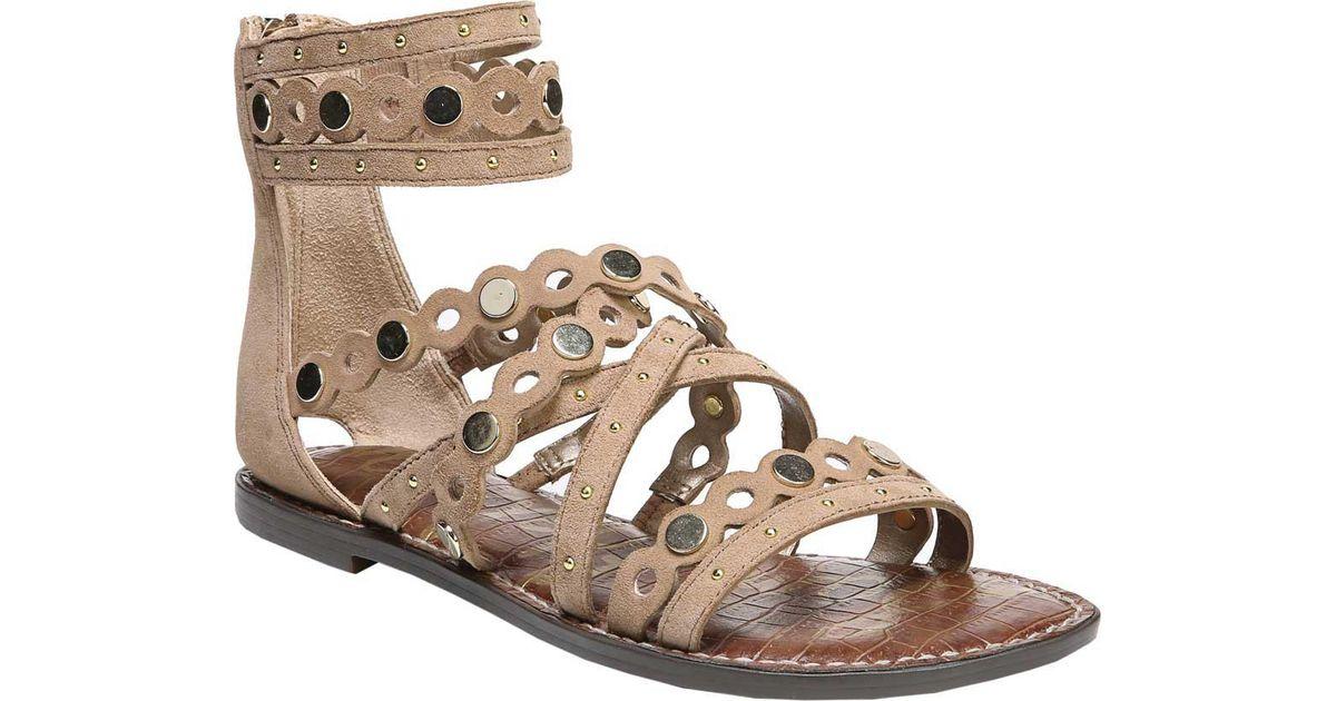 Sam Edelman Geren Suede Studded Gladiator Sandals zaej7kM