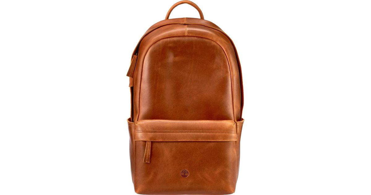 cb274cccda Timberland Tuckerman Leather Backpack in Brown for Men - Lyst