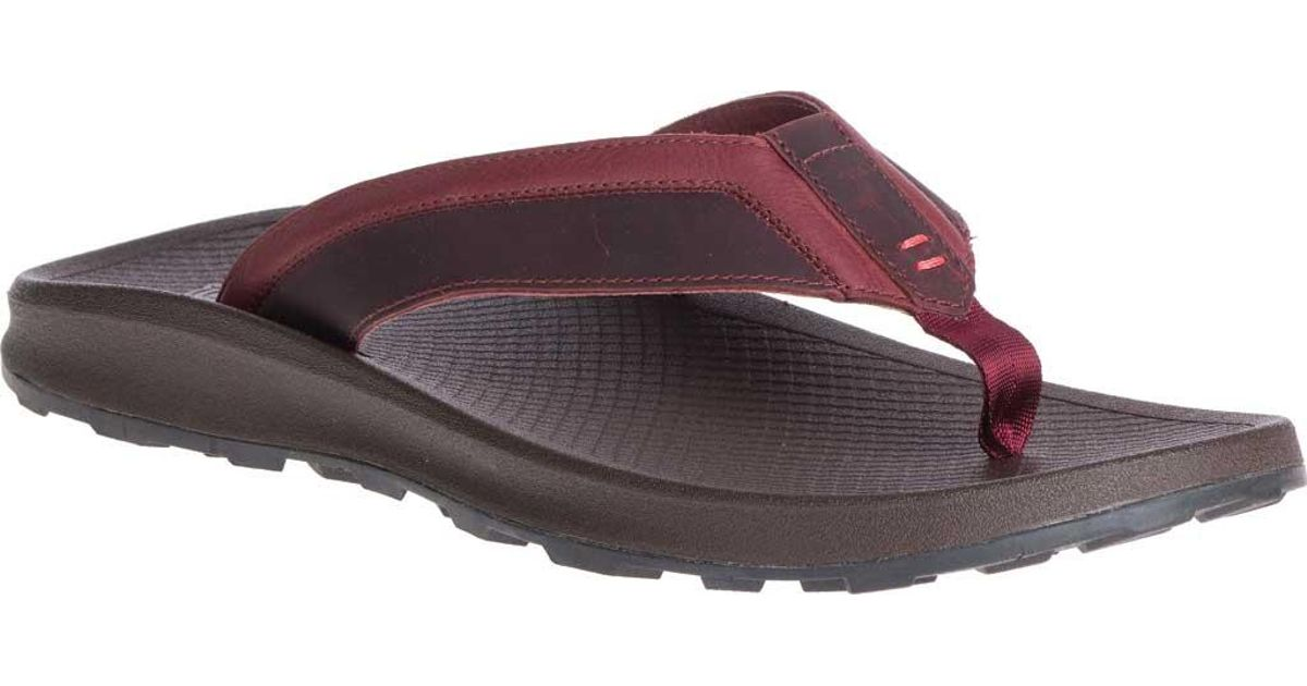 d8d3b7b9465d Lyst - Chaco Playa Pro Leather Flip Flop in Purple for Men