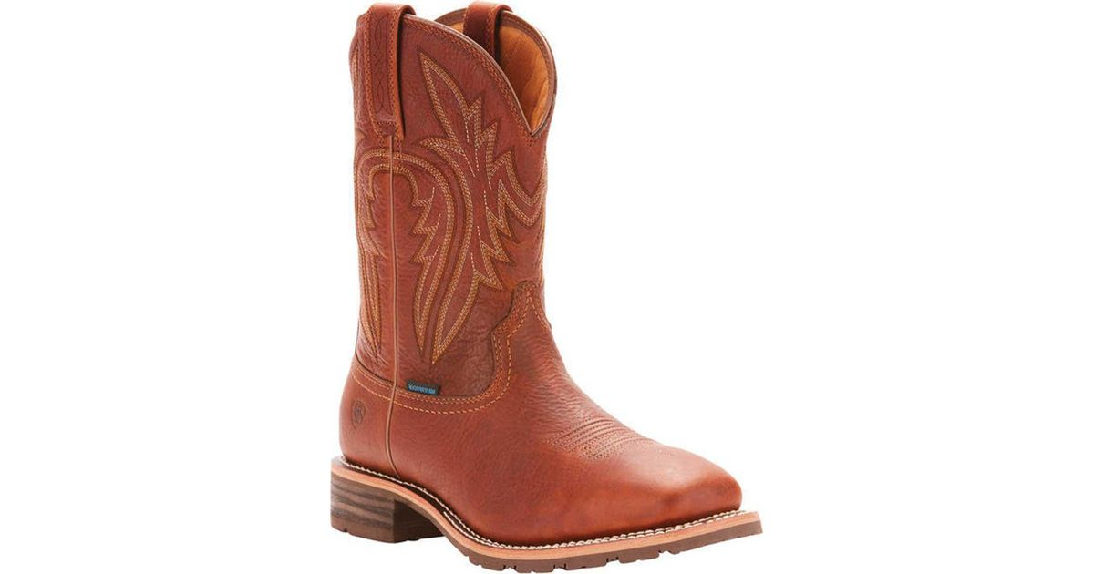 7a1db95cd0d Ariat - Brown Hybrid Rancher 400g Insulated H2o Boot for Men - Lyst