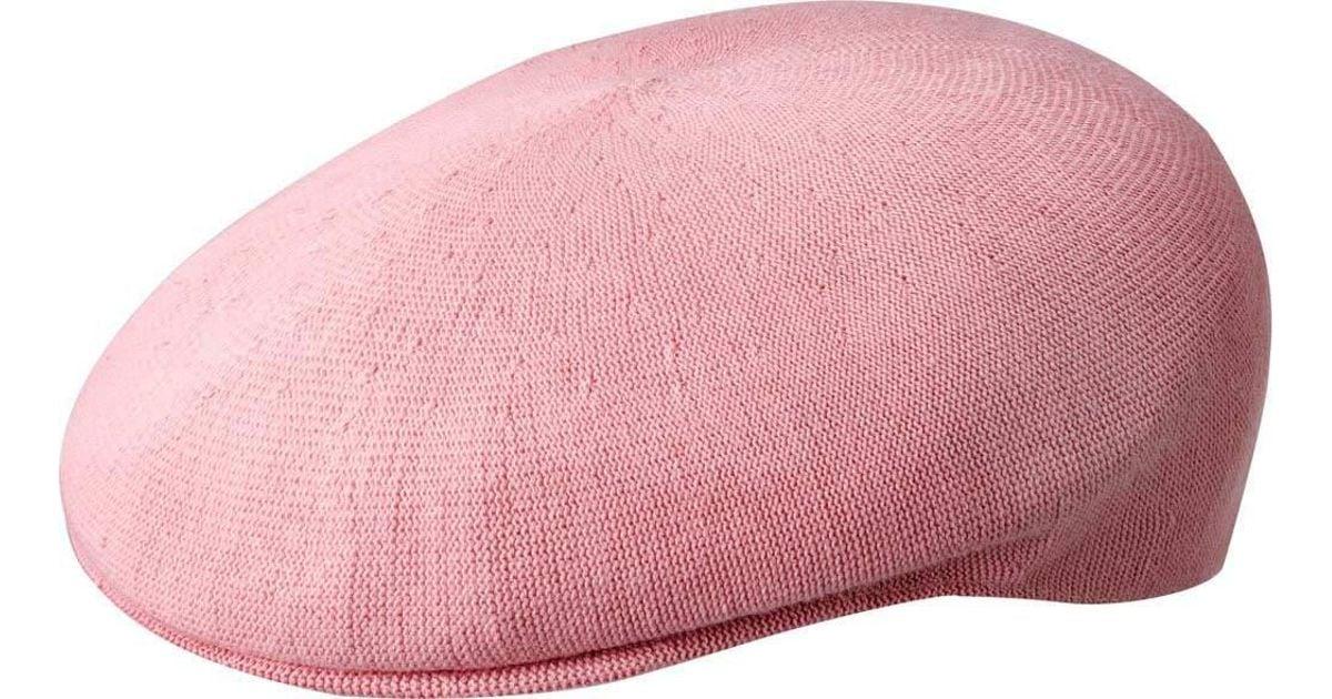 26f288dac4c Lyst - Kangol Bamboo 504 Flat Cap in Pink