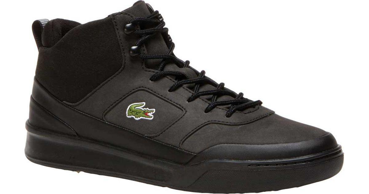 adb68d4eb Lyst - Lacoste Explorateur Sport Mid High Top Sneaker in Black for Men