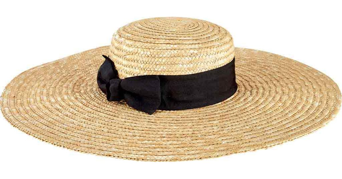 Lyst - San Diego Hat Company Wheat Straw Wide Brim Boater Hat Wsh1109 in  Natural a5faee7e180
