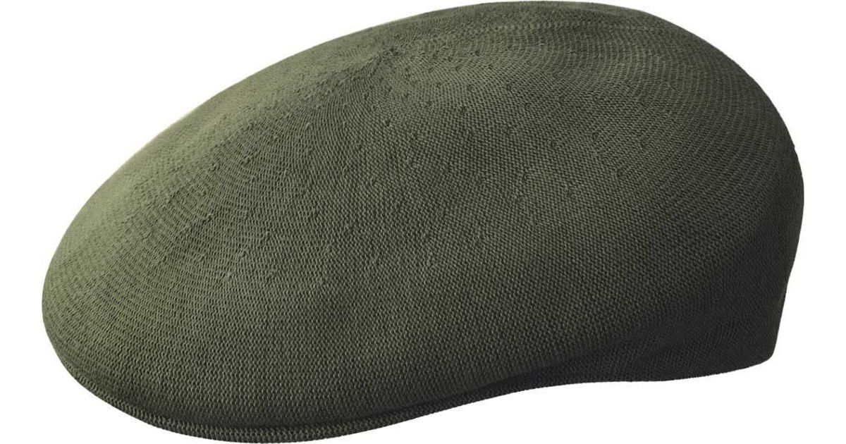 0ab92f37012 Lyst - Kangol Bamboo 504 Flat Cap in Green for Men