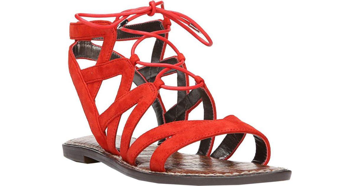 cf6fe8ea70ca Lyst - Sam Edelman Gemma Gladiator Sandals in Red - Save 80%