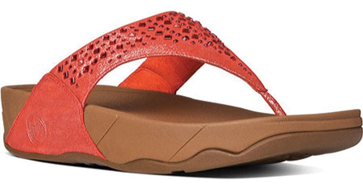 3625b9f3e Lyst - Fitflop Novy Thong Sandal in Red