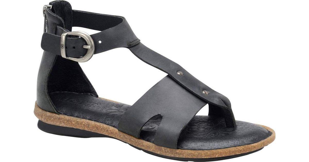 1eefe853809e Lyst - Born Timina T Strap Sandal in Black
