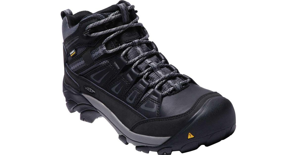 d0ab198898e Keen Utility Multicolor Boulder Mid Waterproof Work Boot for men