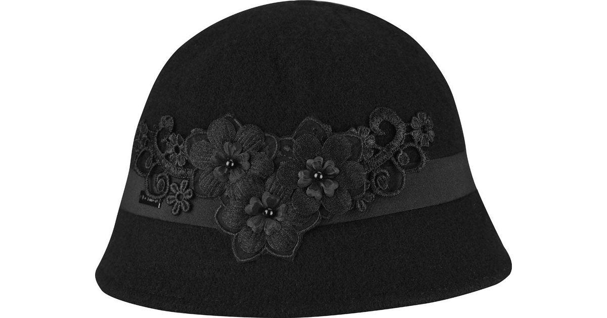 6a6c72997a572 Lyst - Betmar Mindenhall Cloche in Black