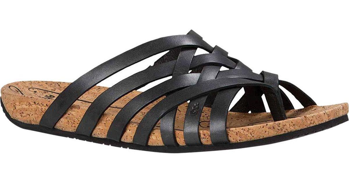 bdbf40cbea0 Lyst - Ahnu Maia Thong Sandal in Black