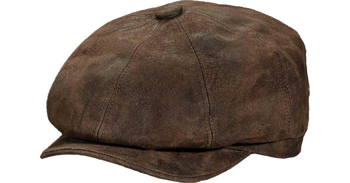 a80a9e48310 Lyst - Stetson Stw199 Weathered 8 4 Newsboy Cap in Brown for Men