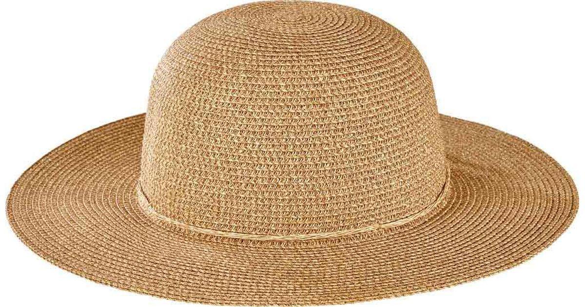 Lyst - San Diego Hat Company Ultrabraid Lurex Round Crown Hat Ubm4460 in  Metallic 7f75b19bdb3b