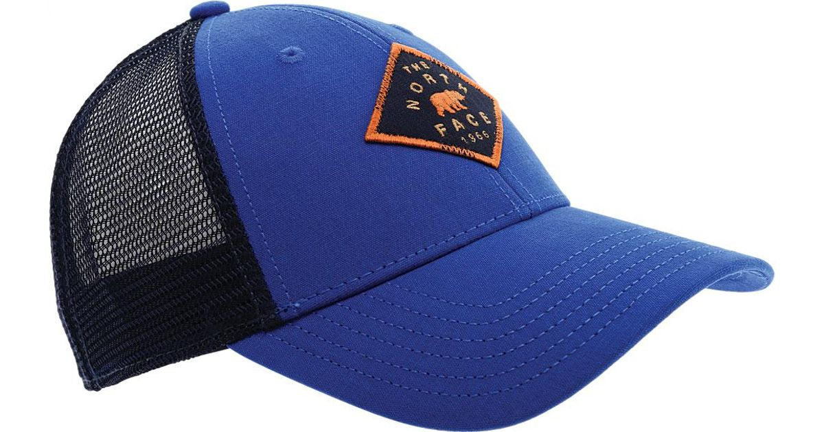69508eae002 Lyst - The North Face Patches Trucker Hat in Blue for Men