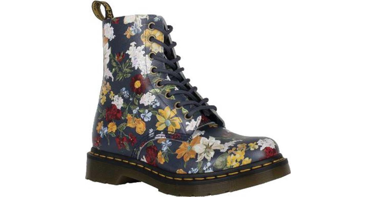 1907288a5f7f1 Dr. Martens 1460 Pascal Darcy Floral (dms Navy Darcy Floral Backhand Straw  Grain) Boots in Blue - Lyst