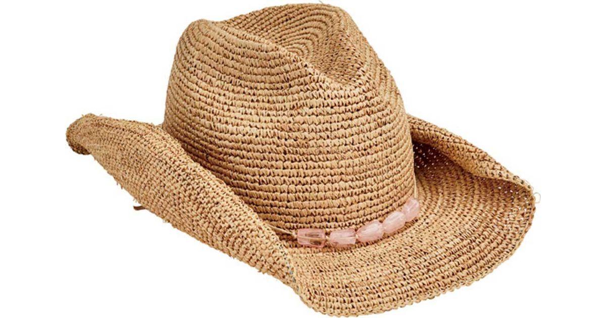 36bb42b67b7 Lyst - San Diego Hat Company Raffia Cowboy Hat Rhc1074 in Pink