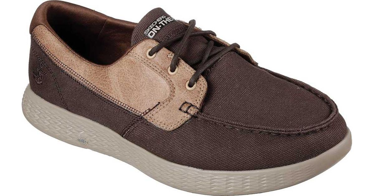 9fee50b9a90a Lyst - Skechers On The Go Glide High Seas Boat Shoe in Brown for Men