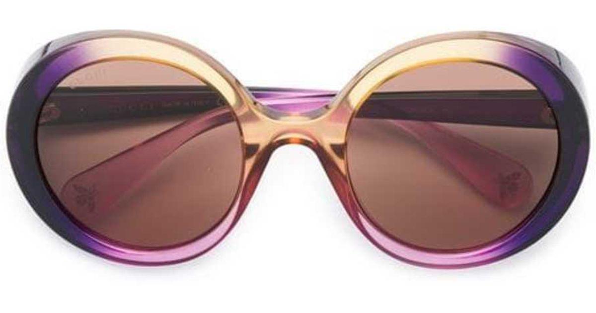 c3881ad7ace6e Lyst - Gucci Glamourous Bold Round Sunglasses