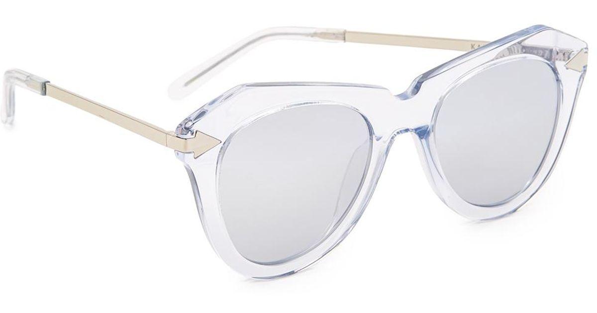 344c7af533f Karen Walker One Star Sunglasses in Metallic - Lyst