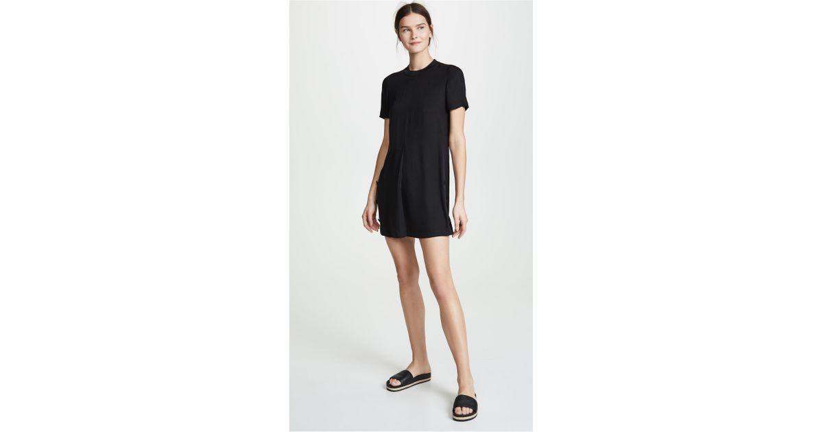 9e00508db458 Rag   Bone Aiden Tee Shirt Dress in Black - Lyst