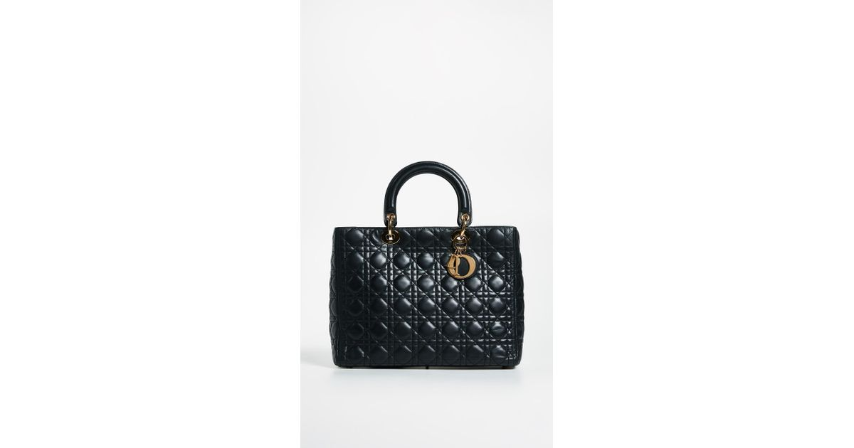 c9ad090c902d Lyst - What Goes Around Comes Around Dior Lady Dior Bag in Black