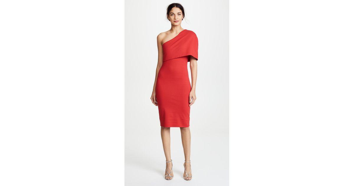 f1e1da6e2c3 Lyst - Michelle Mason Asymmetrical Cocoon Dress in Red