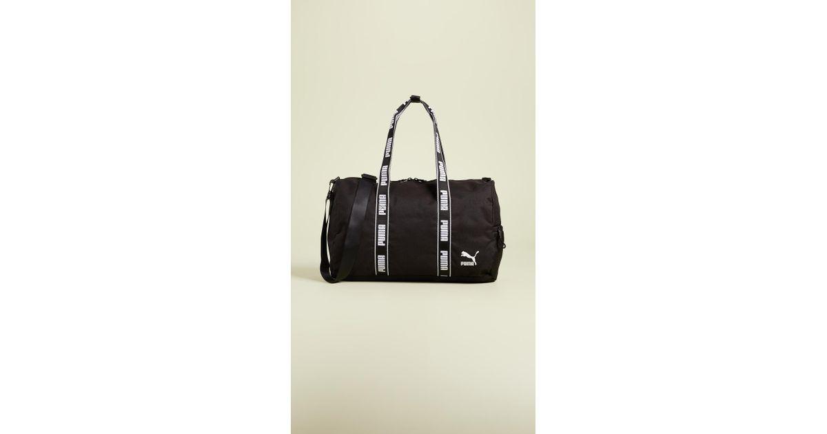 d47b93da8c Lyst - PUMA Conveyor Duffel Bag in Black