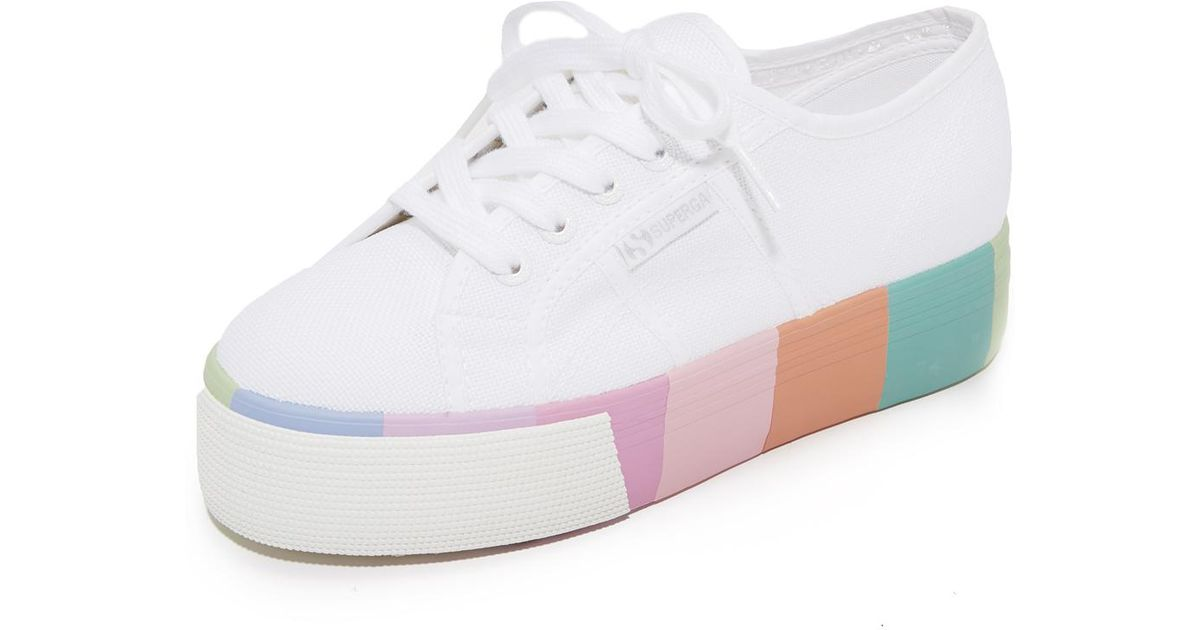 Platform Lyst Sneakers 2790 White In Superga Multi q8HBwtT8