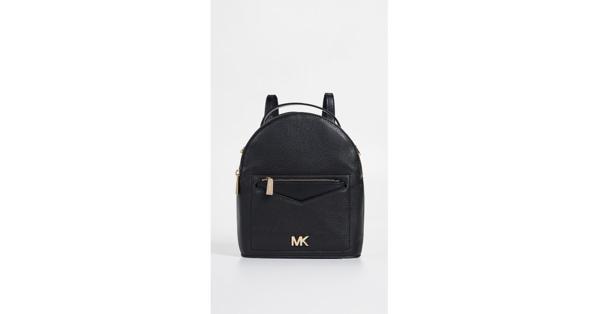 bf8d8a5178ef5b Michael Michael Kors Jessa Small Convertible Backpack in Black - Lyst