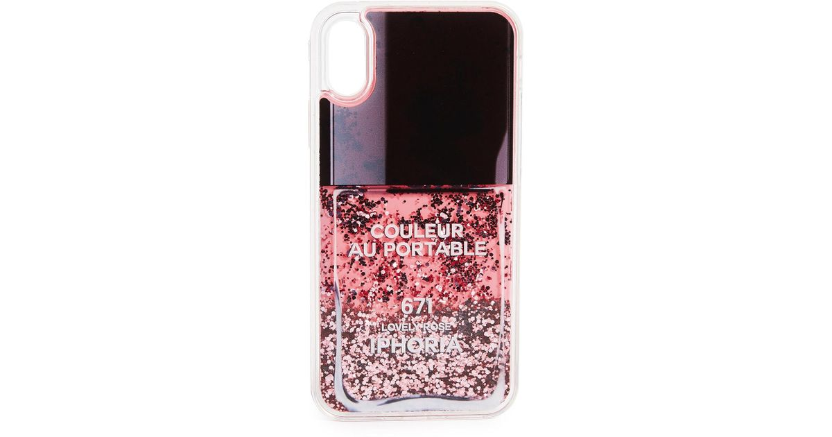 Lyst - Iphoria Nailpolish Lovely Rosa Iphone X Case in Pink