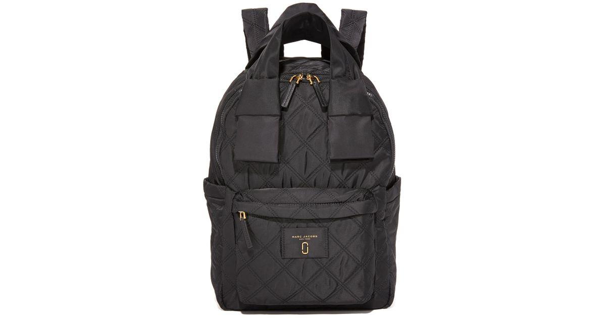 e5782ba0b Marc Jacobs Nylon Knot Large Backpack in Black - Lyst