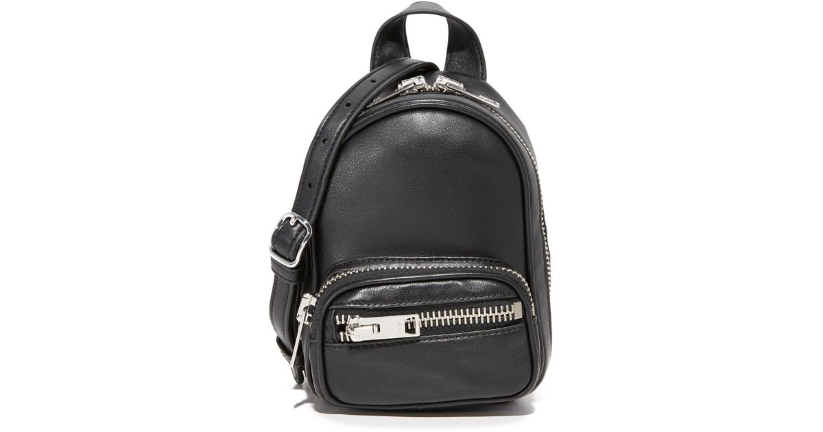 eef09aa09fc6f Lyst - Alexander Wang Attica Soft Mini Backpack in Black