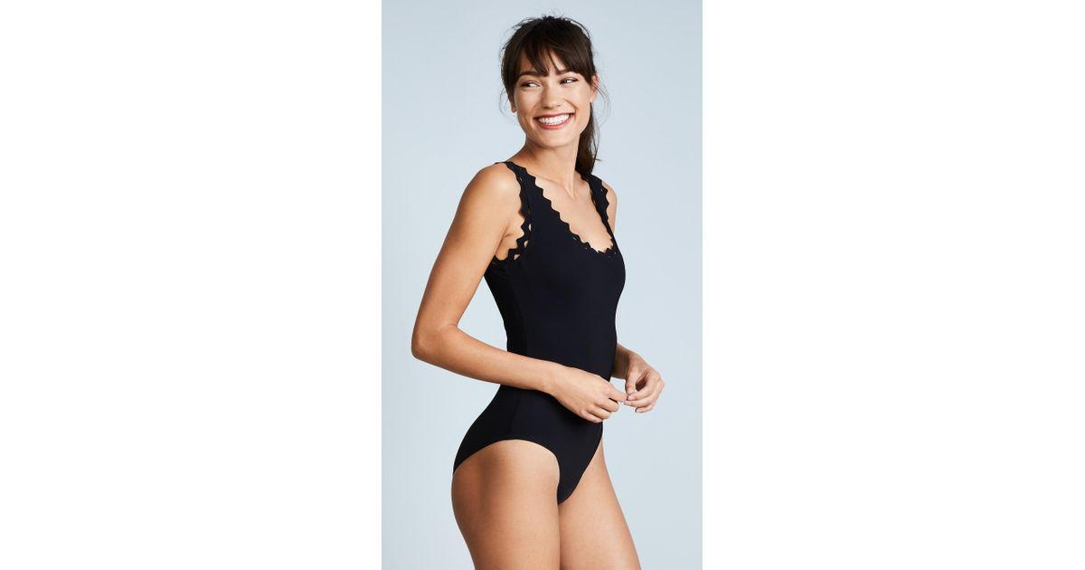 ea43f6ddd9c Karla Colletto Reina Rick Rack One Piece Swimsuit in Black - Lyst